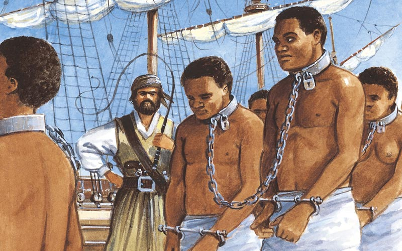 By the influence of Christianity, slavery had disappeared